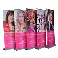 teardrop premium roll up banner stand