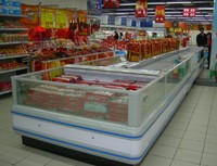 single island display Freezer/display Chiller/Refrigeration Showcase