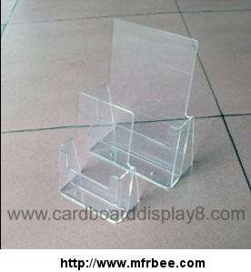 Clear Acrylic Brochure Holder With Silk Screen Printing