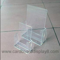 more images of Clear Acrylic Brochure Holder With Silk Screen Printing