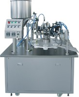 FGF-5 Semi auto laminated plastic tube filling and sealing machine
