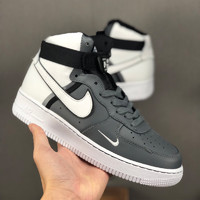 Nike Air Force 1 Shoes For Women/Men in Gray/Red