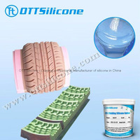 Addition cure silicone rubber for tire mold making