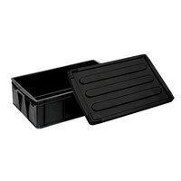 Good quality factory made ESD tray Custom reusable electronic black esd plastic bin box wholesale