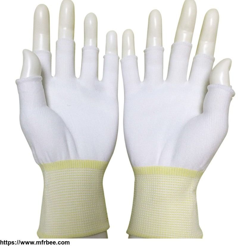 anti_static_esd_nylon_seamless_knit_medium_weight_fingerless_glove_liner