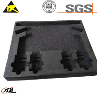 Heat resistant ESD xpe component box insert
