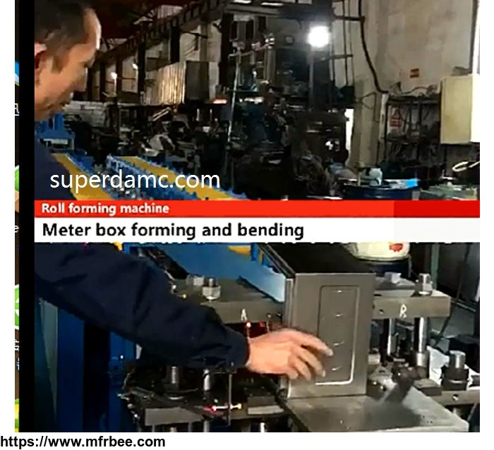 new_design_galvanized_steel_meter_box_roll_forming_machine_production_line_