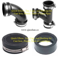 Quick Tees and Quick Elbows For Cast Iron, Plastic, Copper, Steel or Lead Pipes