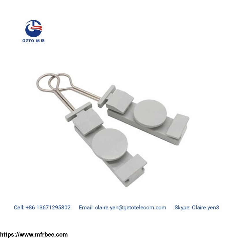 plastic FTTH drop cable clamp