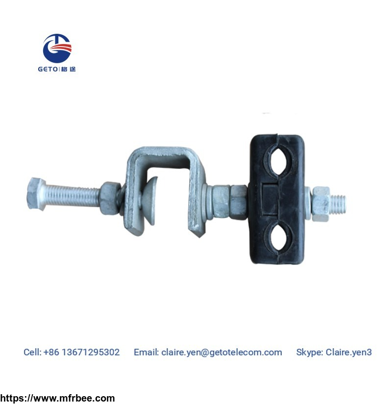 down lead clamp for pole or tower