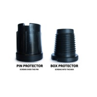 Heavy duty plastic drill pipe thread protectors