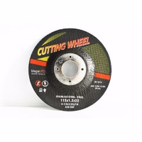 Depressed center thin cutting wheel/disc for ferrous metal and stainless steel cutting