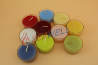 Multi Color Plastic Cup Tea Candle