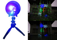 The newest Fashion ABS made outdoor Christmas laser lights with LED snowflake and speaker music projector