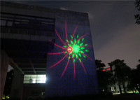 Outdoor Christmas Laser Lights by ABS Material made black house for Holiday decoration