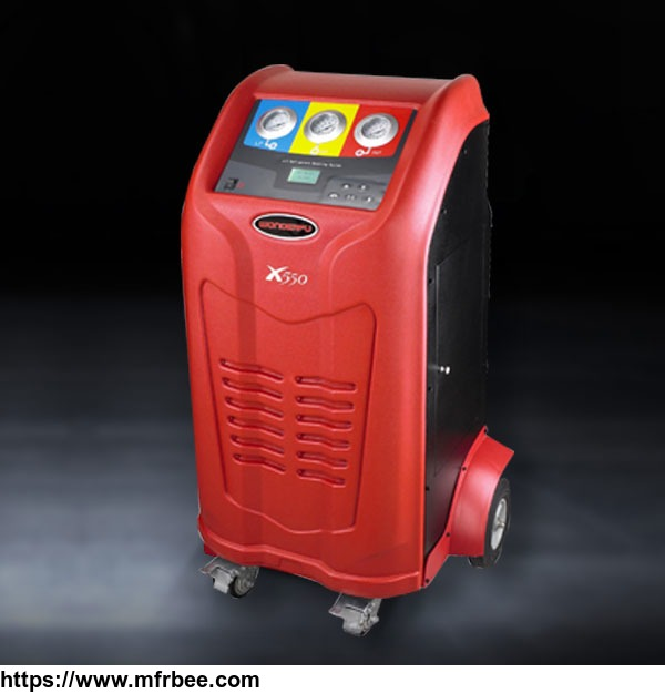 Automatic auto air conditioning gas R134A red recovery and recycle machine