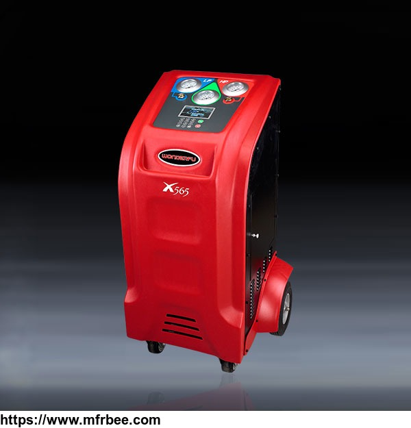 Full automatic red color AC flushing machine with observation windows