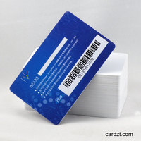China supplier PVC custom size Optional Barcode cards