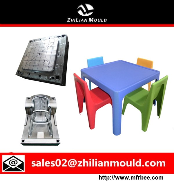 2015 safe and durable plastic Children's tables and chairs mould