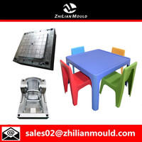 more images of 2015 safe and durable plastic Children's tables and chairs mould
