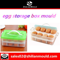 portable plastic double layer egg storage box mould