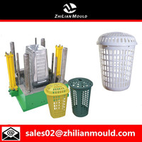 Mould Round Laundry Basket with cover Plastic Basket Mould
