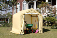 WEATHERFAST MINI SHED WITH PE FABRIC COVER 6'X6'X6'  IDEAL FOR PURPOSE STORAGE IN OUTDOOR SPACES