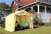 WEATHERFAST MID SHED WITH PE FABRIC COVER 9'X10' IDEAL FOR PURPOSE STORAGE IN OUTDOOR SPACES