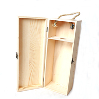 luxury unfinished solid wooden wine box plywood MDF