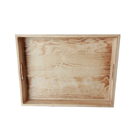 classical design unfinished pine wood serving tray wholesale