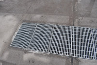 driveway and garage floor drain galvanized steel gully cover