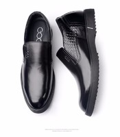 Gentleman leisure Height Increasing Elevator Shoes Slip on Leather Oxfords Dress Loafers