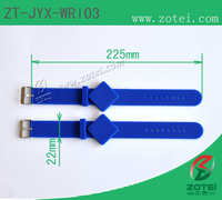 RFID square silicone wristband (watch band clasps, Product model:ZT-JYX-WRI03)