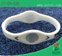 Anti-Counterfeit dual-ended silicone wristband (Product model:ZT-CH-038)