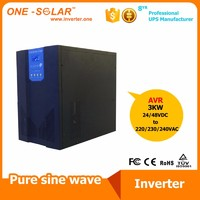 3000W off-grid low frequency pure sine wave solar inverter with AC charger