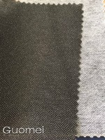 Non woven fusible double dot coating interlining apparel paper interfacing garment underlining