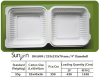 Disposable Food Container, Biodegradable Clamshell, Disposable Lunch Boxes