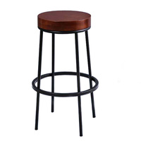 China New design  Factory price high quality Brown Counter Height Bar Stool