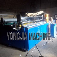 Semi automatic toilet paper machine