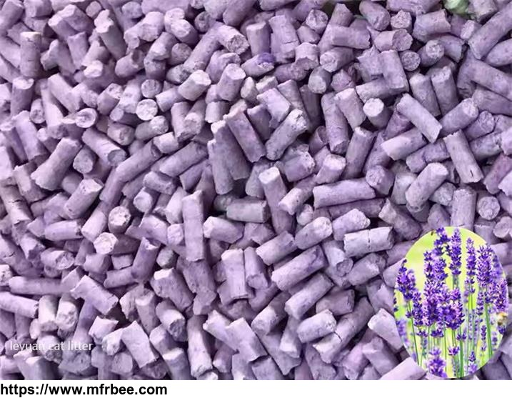 Lavender flavor cat litter good deodorization and absorption