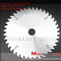Custom Cutter PCD circular saw blade for laminate Panel Sizing Scoring Alisa@moresuperhard.com