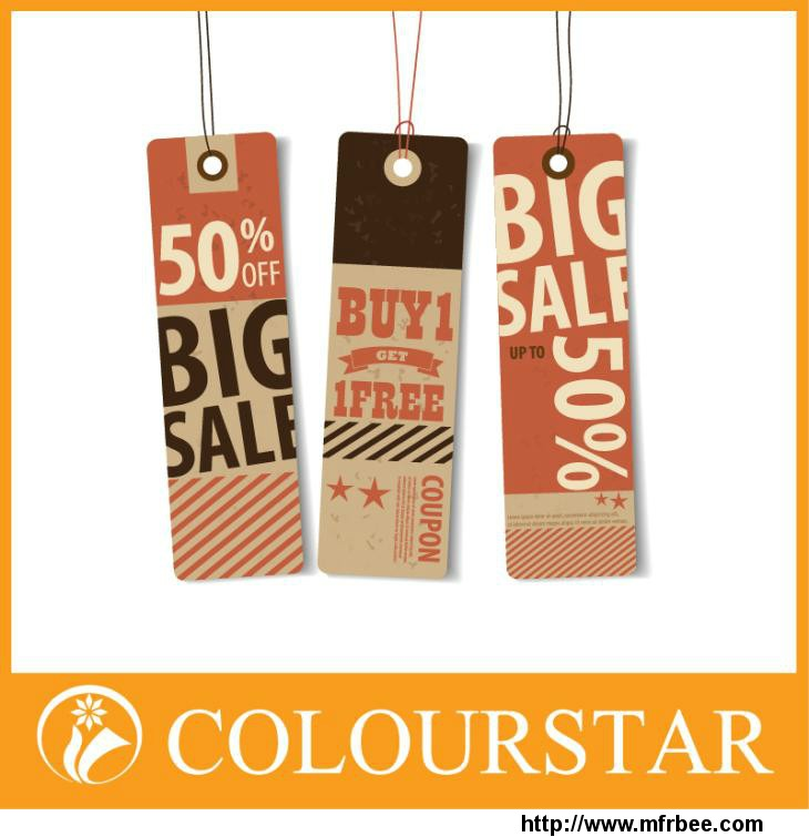 custom printed price tags Offset Printed Tags