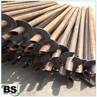 Hot Rolled Plate Helices Material Standard Round Shaft Helical Piles