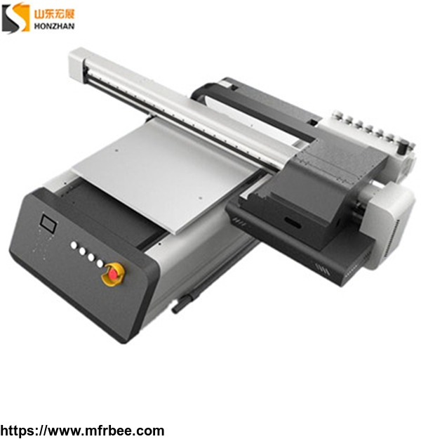 Honzhan HZ-UV6090 Digital UV Led Flatbed Printer 600x900mm with Three Epson XP600 Print heads