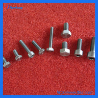 China Manufacture Excellent DIN Standard Titanium fastener & bolts & screws