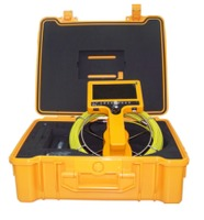Portable video sewer inspection camera with waterproof camera