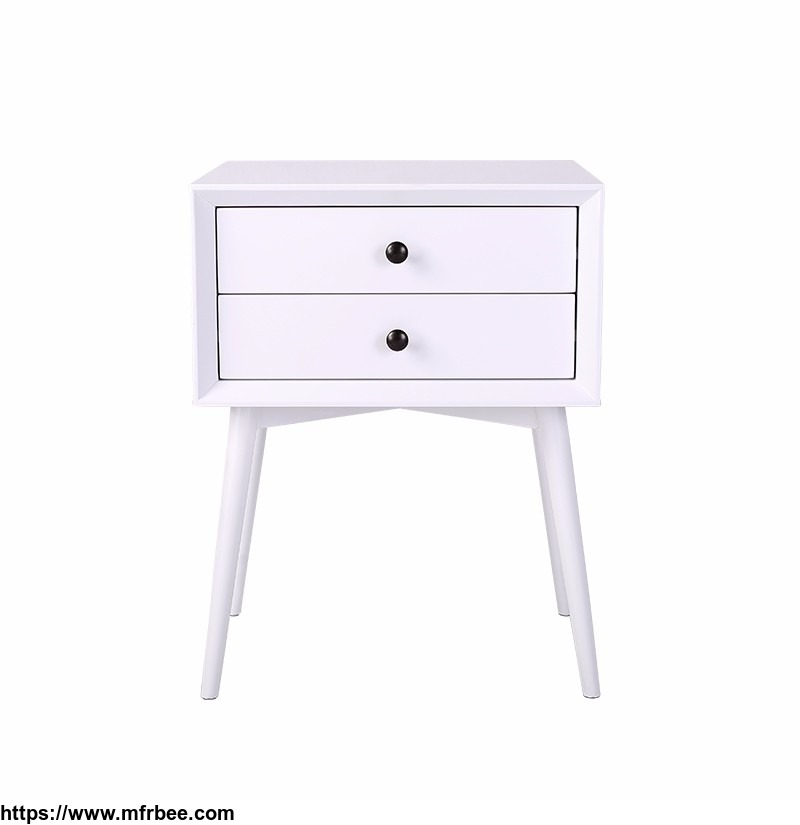 Europe Style Wood Nightstand Designs MDF Bedside Table