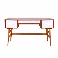 China supply custom white furniture mdf and solid wood home writing desk