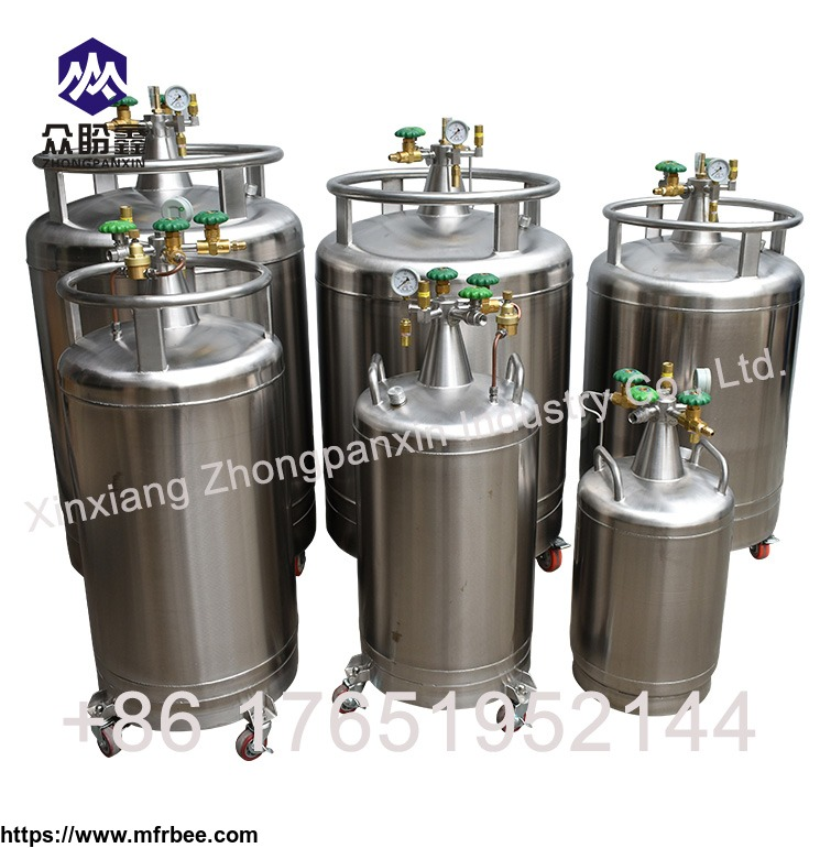 stainless_steel_self_pressuring_dewar_for_storage_and_dispensing_liquid_nitrogen