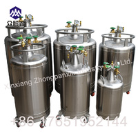 Stainless steel self-pressuring dewar for storage and dispensing liquid nitrogen